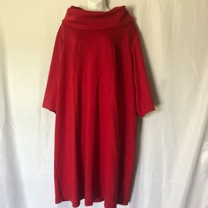 Womens Red Plis Size Dress 22/24W